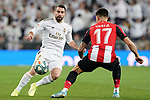 Real Madrid's Dani Carvajal (l) and Athletic Club de Bilbao's Yuri Berchiche during La Liga match. December 22,2019. (ALTERPHOTOS/Acero)