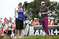 Tyrrell Hatton (ENG) with caddie Roachy during Round Three of the 2015 Alstom Open de France, played at Le Golf National, Saint-Quentin-En-Yvelines, Paris, France. /04/07/2015/. Picture: Golffile | David Lloyd<br /> <br /> All photos usage must carry mandatory copyright credit (© Golffile | David Lloyd)
