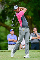 Charl Schwartzel (RSA) watches his tee shot on 5 during Friday's round 2 of the PGA Championship at the Quail Hollow Club in Charlotte, North Carolina. 8/11/2017.<br /> Picture: Golffile | Ken Murray<br /> <br /> <br /> All photo usage must carry mandatory copyright credit (&copy; Golffile | Ken Murray)