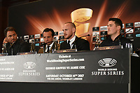 George Groves (2nd R) during a Press Conference at the Landmark Hotel on 11th October 2017