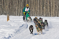 Musher Blayne Streeper, 2007 Open North American Championship sled dog race (the world's premier sled dog sprint race) is held annually in Fairbanks, Alaska.