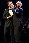 Singers Luciano Pereyra (L) and Luis Jara during concert of Festival Unicos. September 23, 2019. (ALTERPHOTOS/Johana Hernandez)