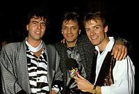 Montreal (Qc) CANADA -Nov 11, 1986 - John McGale (L),<br />  Jean Millaire (M) Marc Carpentier (R) at Marjo album launch