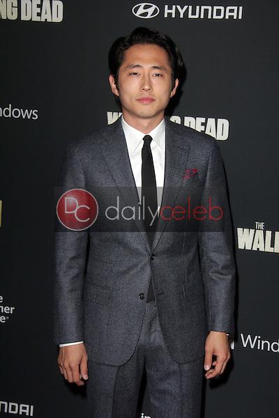 "Steven Yeun<br /> at ""The Walking Dead"" Season Four Premiere, AMC Universal Citywalk Stadium 19,  Universal City, CA 10-03-13<br /> Dave Edwards/DailyCeleb.com 818-249-4998"
