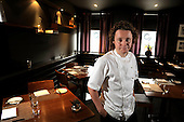Michelin starred chef Tom Kitchin - The Kitchen, Leith - Picture by Donald MacLeod 25.06.10 - mobile 07702 319 738