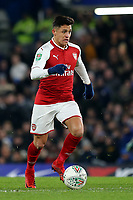 Alexis Sanchez of Arsenal in action during Chelsea vs Arsenal, Caraboa Cup Football at Stamford Bridge on 10th January 2018