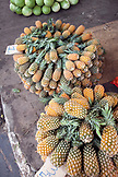 Brazil, Manaus, pineapples and watermelons being sold at the Manaus market