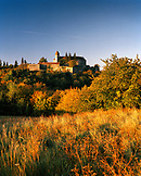 AUSTRIA, Bernstein, Burg Bernstein Castle at sunrise, Burgenland