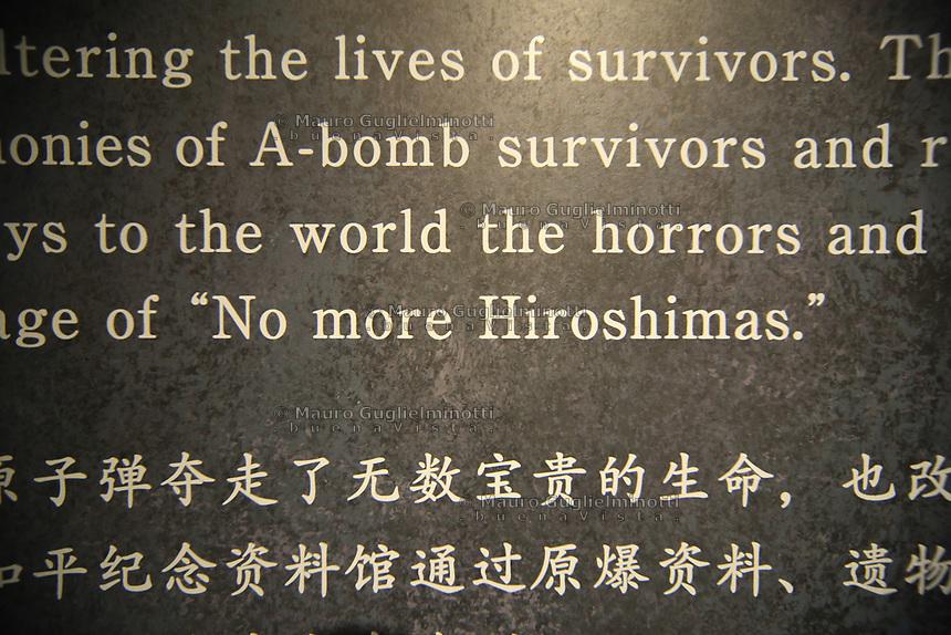 no more Hiroshimas  mai più altre Hiroshima