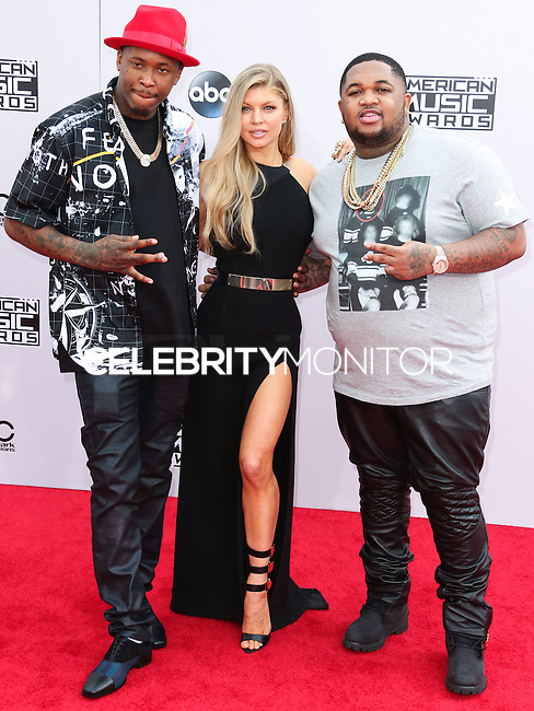 LOS ANGELES, CA, USA - NOVEMBER 23: YG, Fergie, DJ Mustard arrive at the 2014 American Music Awards held at Nokia Theatre L.A. Live on November 23, 2014 in Los Angeles, California, United States. (Photo by Xavier Collin/Celebrity Monitor)