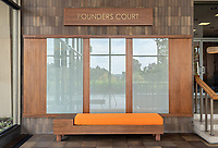 Founders Court donor wall in the AGC 2nd floor rotunda, Oct. 16, 2019.<br /> (Photo by Marc Campos, Occidental College Photographer)