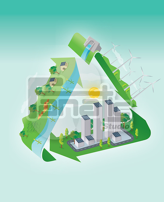 Illustrative image representing green concept