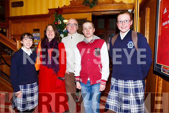 Enjoying the Presentation Secondary Castleisland School's 90th celebrations at River Island Hotel on Friday were Kelly Ann Nix, Sheila Nix, Colm Nix, Micheal Nix and Katelyn Curtin