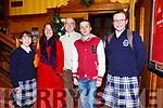 Enjoying the Presentation Secondary Castleisland School's 90th celebrations at River Island Hotel on Friday were Kelly Ann Nix, Sheila Nix, Colm Nix, Micheal Nix and Katelyn Curtin