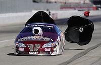 Nov 13, 2010; Pomona, CA, USA; NHRA pro stock driver Ronnie Humphrey during qualifying for the Auto Club Finals at Auto Club Raceway at Pomona. Mandatory Credit: Mark J. Rebilas-