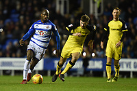 Sone Aluko of Reading during the Sky Bet Championship match between Reading and Burton Albion at the Madejski Stadium, Reading, England on 23 December 2017. Photo by Paul Paxford.