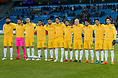 23rd March 2018, Ullevaal Stadion, Oslo, Norway; International Football Friendly, Norway versus Australia; Australia team line up during the international friendly match between Norway and Australia