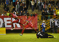 TUNJA -COLOMBIA, 7-09-2016. Acción de juego entre Patriotas vs Nacional  durante encuentro  por los cuartos de final  de la Copa Aguila II 2016 disputado en el estadio de  La Independencia./ Action game between Patriotas FC and Nacional  during match for the   Aguila Cup II 2016 played at La Independencia  stadium . Photo:VizzorImage / César Melgarejo   / Cont