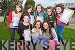 Junior Cert student from Presentation Secondary, Tralee after receiving their results on Wednrsday front from left Catriona Moriarty, Laura Reidy and  Niamh Corcoran. Back from left, Niamh Collins, Karen O'Shea, Sara Rath, Kelly O'Connell and Katie O'Sullivan.