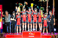 Best team award to BMC Racing Team during La Vuelta a España 2016 in Madrid. September 11, Spain. 2016. (ALTERPHOTOS/BorjaB.Hojas) NORTEPHOTO.COM