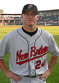 August 13, 2003:  J.D. Durbin of the New Britain Rock Cats, Class-AA affiliate of the Minnesota Twins, during a Eastern League game at Jerry Uht Park in Erie, PA.  Photo by:  Mike Janes/Four Seam Images
