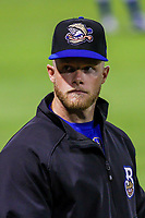 Biloxi Shuckers pitcher Matt Ramsey (32) during a Southern League game against the Tennessee Smokies on May 25, 2017 at Smokies Stadium in Kodak, Tennessee.  Tennessee defeated Biloxi 10-4. (Brad Krause/Krause Sports Photography)