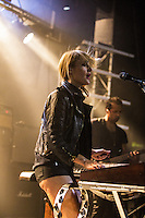 Metric performing a Splendour in the Grass sideshow at Billboard the Venue, Melbourne, 27 July 2012
