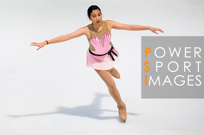 Napassorn Esharoe competes during the Asian Junior Figure Skating Challenge 2015 on October 07, 2015 at the Festival Walk Mall in Hong Kong, China. Photo by Aitor Alcalde/ Power Sport Images