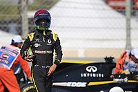 29th November 2019; Yas Marina Circuit, Abu Dhabi, United Arab Emirates; Formula 1 Abu Dhabi Grand Prix, practice day; Renault Sport F1 Team, Daniel Ricciardo stops on circuit due to engine failure - Editorial Use