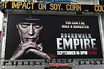 Billboard: Steve Buscemi starring in 'Boardwalk Empire',  Times Square on August 26, 2012 in New York City.