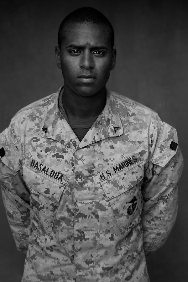 Lcpl. Jonathan Basaldua, 20, Dallas, Texas, Weapons Platoon, Kilo Co., 3rd Battalion 1st Marines, United States Marine Corps.