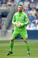 San Jose goal keeper Jon Busch... Sporting Kansas City defeated San Jose Earthquakes 2-1 at LIVESTRONG Sporting Park, Kansas City, Kansas.