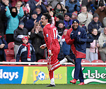 Middlesbrough's Tuncay Sanli celebrates his goal. during the Premier League match at the Riverside Stadium, Middlesbrough. Picture date 8th March 2008. Picture credit should read: Richard Lee/Sportimage