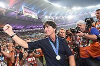 FUSSBALL WM 2014                       FINALE   Deutschland - Argentinien     13.07.2014 DEUTSCHLAND FEIERT DEN WM TITEL: Bundestrainer Joachim Loew jubelt