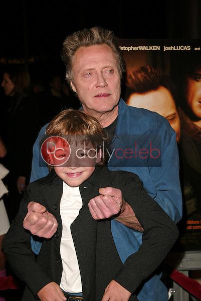 Christopher Walken and Jonah Bobo