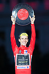 Simon Yates (GBR) Mitchelton-Scott takes 1st place overall his first ever Grand Tour victory, at the end of the final Stage 21 of the La Vuelta 2018, running 100.9km for Alcorcon to Madrid, Spain. 16th September 2018.                   <br /> Picture: Jim Fryer/Brakethrough Media | Cyclefile<br /> <br /> <br /> All photos usage must carry mandatory copyright credit (© Cyclefile | Jim Fryer/Brakethrough Media)