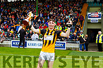 Michael Slattery, Abbeydorney's captain and Man of the Match at the County Minor Hurling championship final on Sunday.