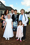 09/05/2015 - Mornington Communion – Kaelin Butler with her Mum Mary, sister Natasha, Brother Killian, niece Alesisha and Granny Rose. Picture: www.newsfile.ie