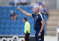 John McGreal, Head Coach of Colchester United gives the thumbs up during Colchester United vs Northampton Town, Sky Bet EFL League 2 Football at the JobServe Community Stadium on 24th August 2019