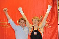 TURNEN: HEERENVEEN: Sportstad Heerenveen, 26-04-2013, onthulling Epke Zonderland zijn wassen beeld voor het Madame Tussauds Museum in Amsterdam, ©foto Martin de Jong