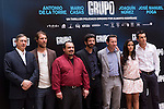 "Presentation at the Intercontinental Hotel in Madrid of the film ""Group 7"" with the presence of the actors Mario Casas, Antonio de la Torre, Inma Cuesta, Jose Manuel Poga, Joaquin Nunez, director Alberto Rodriguez, and producer Jose Antonio Fellez. In the picture: Jose Antonio Fellez, Jose Manuel Poga, Joaquin Nunez, Alberto Rodriguez, Antonio de la Torre, Inma Cuesta and Mario Casas..(Alterphotos/Marta Gonzalez)"