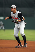 July 14th 2008:  First baseman Tom Baxter of the Aberdeen Ironbirds, Class-A affiliate of the Baltimore Orioles, during a game at Dwyer Stadium in Batavia, NY.  Photo by:  Mike Janes/Four Seam Images