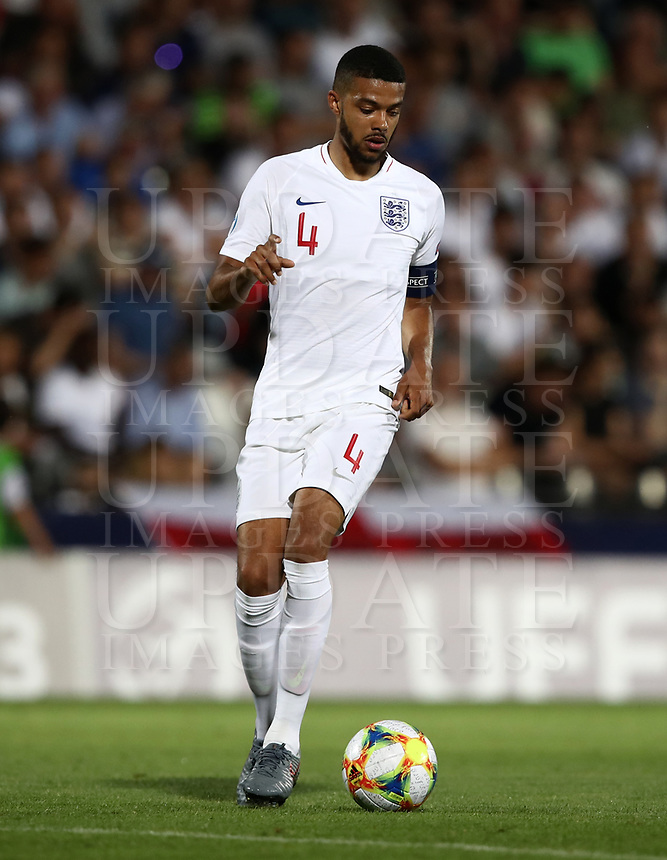 Football: Uefa under 21 Championship 2019, England - France, Dino Manuzzi stadium Cesena Italy on June18, 2019.<br /> England's captain Jake Clarke-Salter in action during the Uefa under 21 Championship 2019 football match between England and France at Dino Manuzzi stadium in Cesena, Italy on June18, 2019.<br /> UPDATE IMAGES PRESS/Isabella Bonotto
