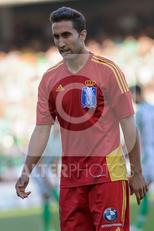 Huelva's Montoro during the match between Real Betis and Recreativo de Huelva day 10 of the spanish Adelante League 2014-2015 014-2015 played at the Benito Villamarin stadium of Seville. (PHOTO: CARLOS BOUZA / BOUZA PRESS / ALTER PHOTOS)