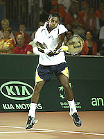 20030919, Zwolle, Davis Cup, NL-India, Prakash Amritraj in his match against Schalken