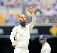 Moeen Ali (England) - Photo SMPIMAGES.COM / newscorpaustralia.com - Action from the 1st Test of the 2017 / 2018 Magellan Ashes Cricket series between Australia v England played at the Gabba, Brisbane Australia. MANDATORY CREDIT/BYLINE : SWpix.com/PhotosportNZ