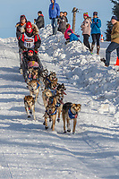 Aliy Zirkle on Cordova St. hill during the Anchorage start day of Iditarod 2018 on Cordova St. hill during the Anchorage start day of Iditarod 2019