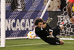 20 March 2008: Kevin Hernandez (HON) (1) makes a save during the penalty kick shootout. The Honduras U-23 Men's National Team defeated the Guatemala U-23 Men's National Team 6-5 on penalty kicks after a 0-0 overtime tie at LP Field in Nashville,TN in a semifinal game during the 2008 CONCACAF Men's Olympic Qualifying Tournament. With the penalty kick victory, Honduras qualifies for the 2008 Beijing Olympics.