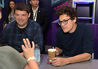 FOX FAN FAIR AT SAN DIEGO COMIC-CON© 2019: L-R: BLESS THE HARTS Executive Producers Phil Lord and Chris Miller during the BLESS THE HARTS booth Signing on Friday, July 19 at the FOX FAN FAIR AT SAN DIEGO COMIC-CON© 2019. CR: Alan Hess/FOX © 2019 FOX MEDIA LLC