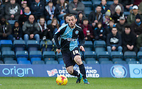 Michael Harriman of Wycombe Wanderers in action during the Sky Bet League 2 match between Wycombe Wanderers and Leyton Orient at Adams Park, High Wycombe, England on 23 January 2016. Photo by Andy Rowland / PRiME Media Images.
